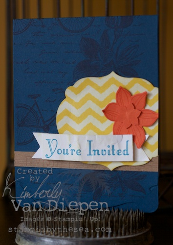 Kimberly VAn Diepen stampin up demo
