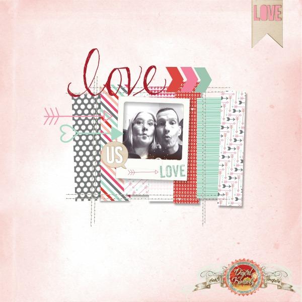 LOVE, Digital Scrapbooking, MDS