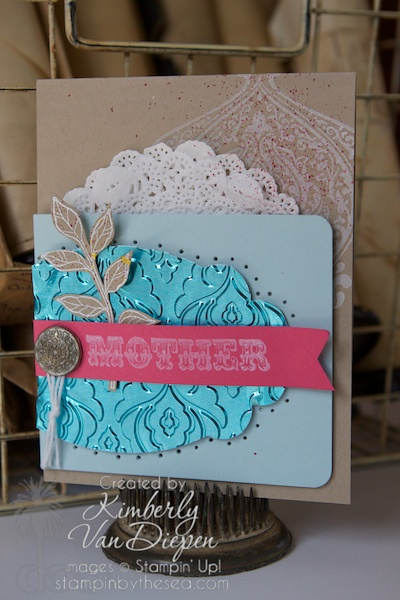 Celebrating Mother's, Metal on cards, Mother, Stampin' Up!