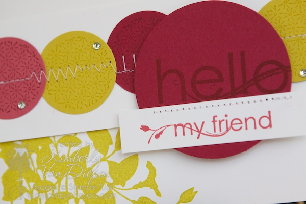 Stitching on Cards-What stitch to use, Stampin' Up!, My Friend Stamp set