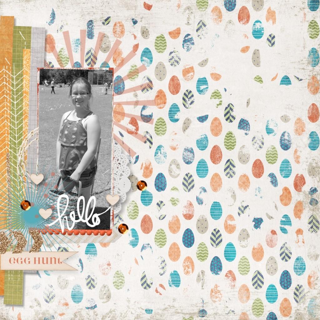 Easter Memories Alive, MDS Challenge, Digital Scrapbooking, Stampin' Up!