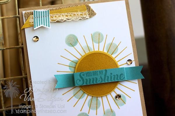 Kinda Eclectic stamp set, Ray of Sunshine stamp set