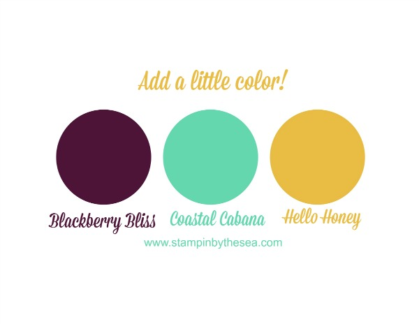 Add a Little Color, Stampin' Up!