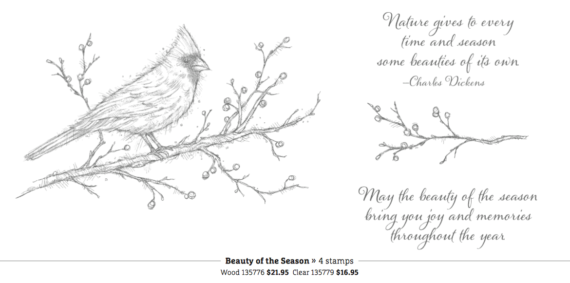 Beauty of the Season stamp set, Stampin' Up!