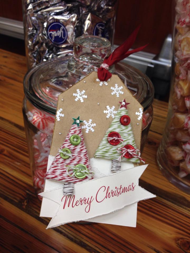 christmas handmade christmas tags stampin up christmas - Christmas Tags Handmade