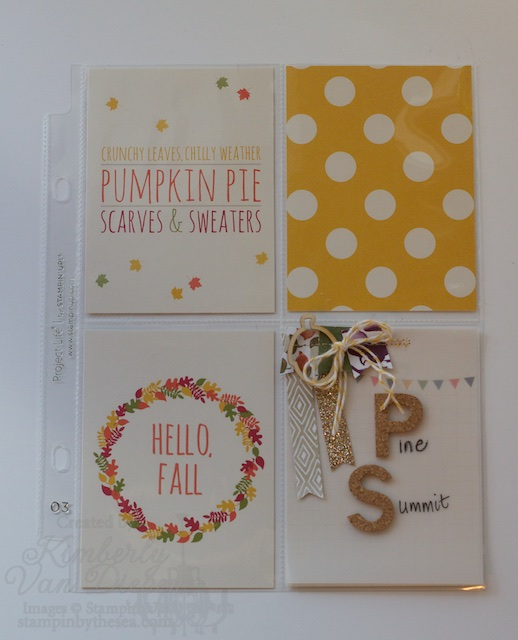 Project Life by Stampin' Up!, Project Life