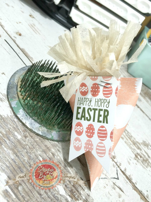 Carrot, Sour Cream container, Easter Papercrafts
