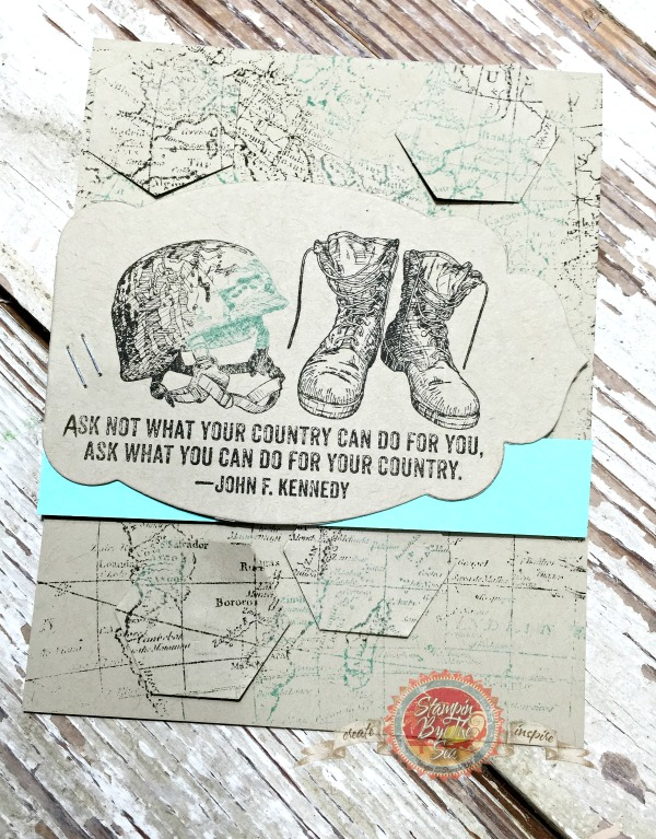 For Your Country stamp set, Stampin' Up!