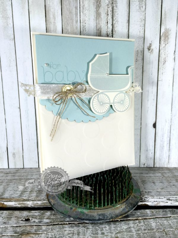 """While this is a FANTASTIC stamp set and framelits it's only images. So I grabbed the B.Y.O.P stamp set which was PERFECTO! You cannot get any easier than, """"For Baby!"""""""
