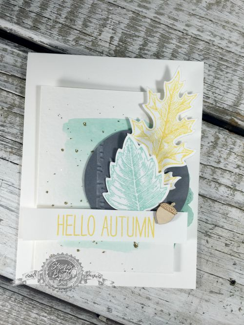 TGIFC15, Color Challenge, Stampin' Up!, Vintages Leaves