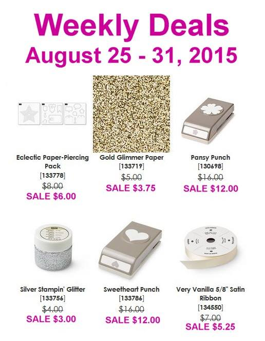 Weekly Deals Aug 25th