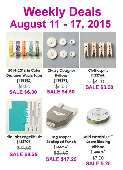 Weekly Deal Aug 11