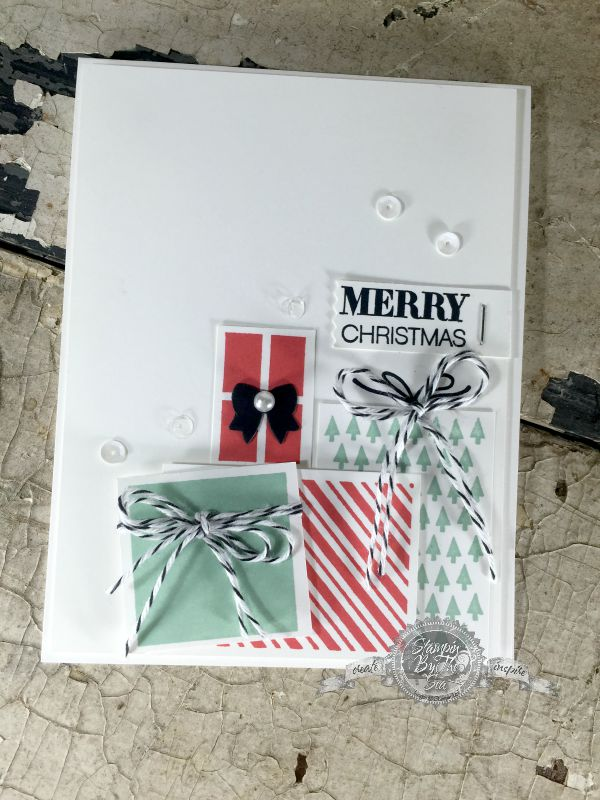 TGIF Challenge #19, Your Presents, Holly Jolly Greetings, Stampin' Up!