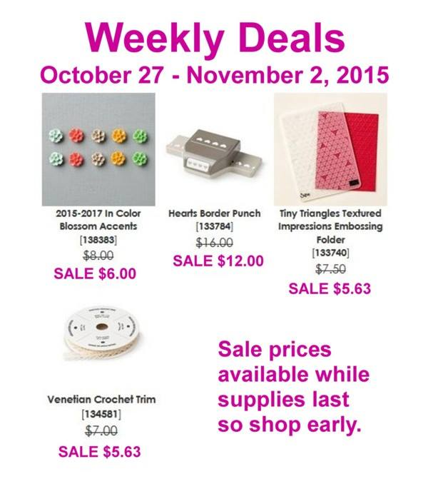 Weekly Deals , Stampin' Up!