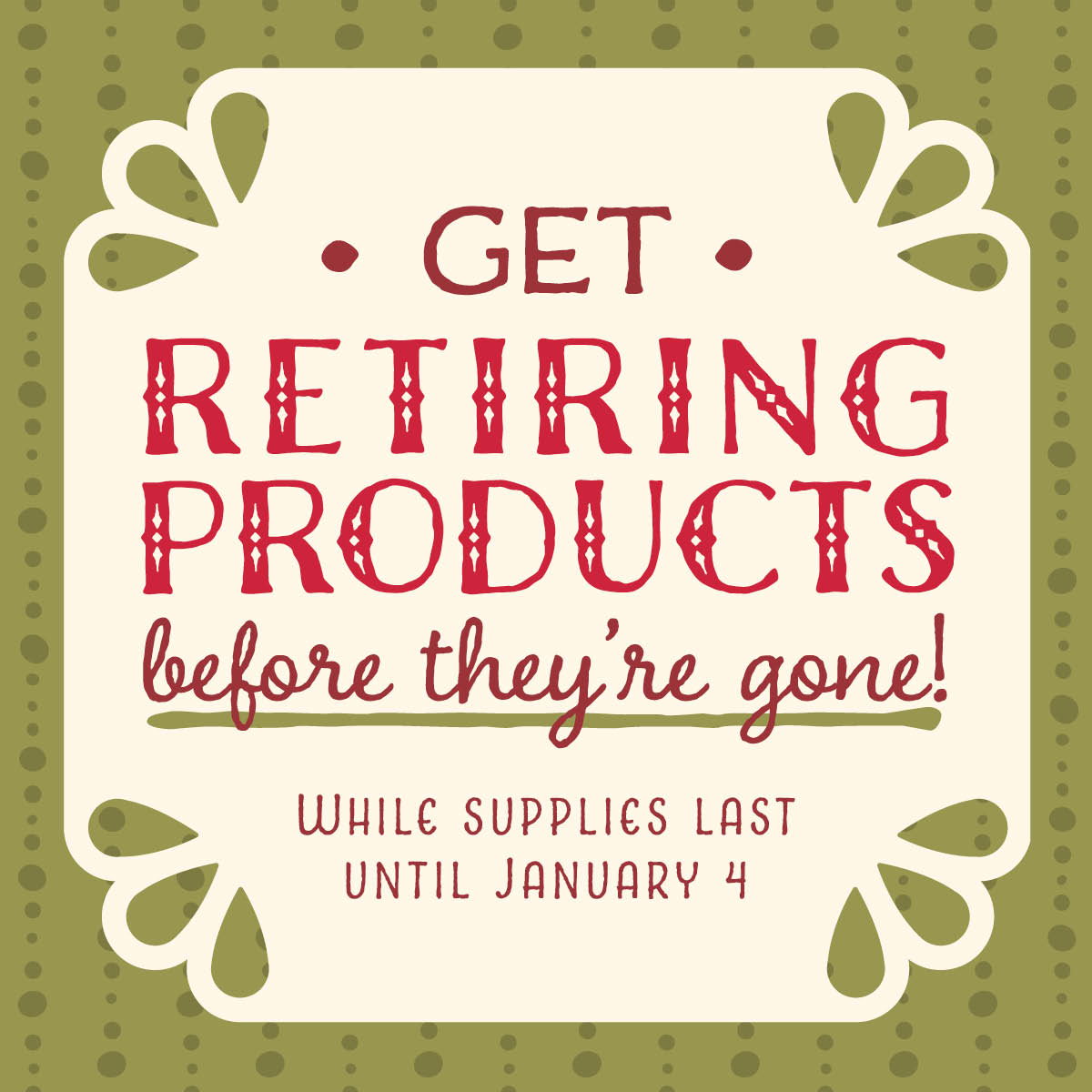 Retiring Products, Stampin' Up!