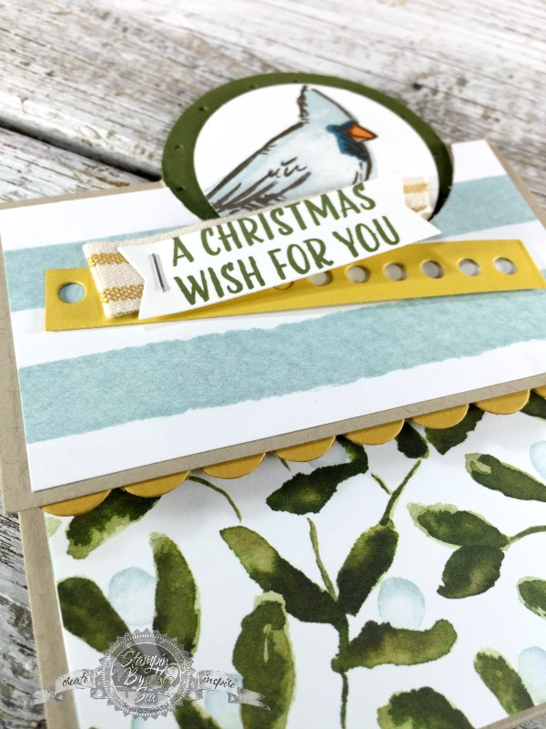 Fun Fold Card, Joyful Season stamp set, Stampin' Up!