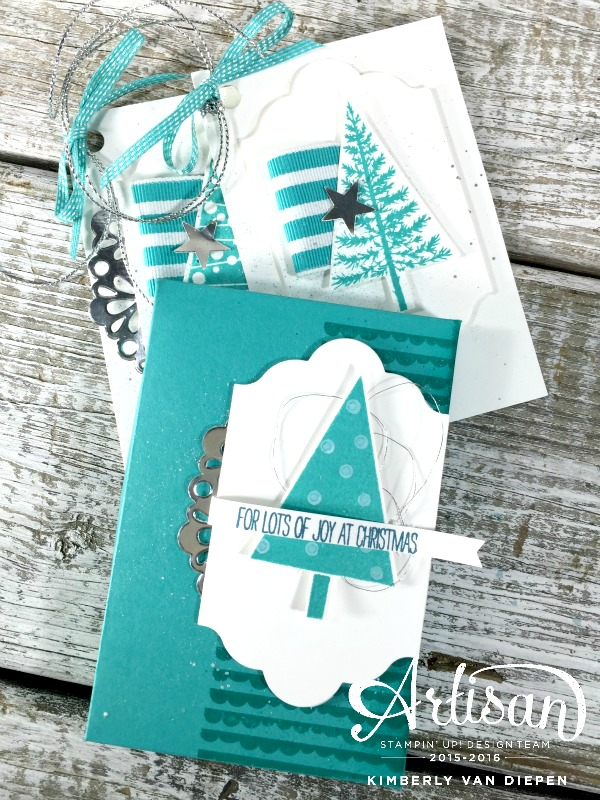 3D Box of Tags, Festival of Trees, Stampin' Up!
