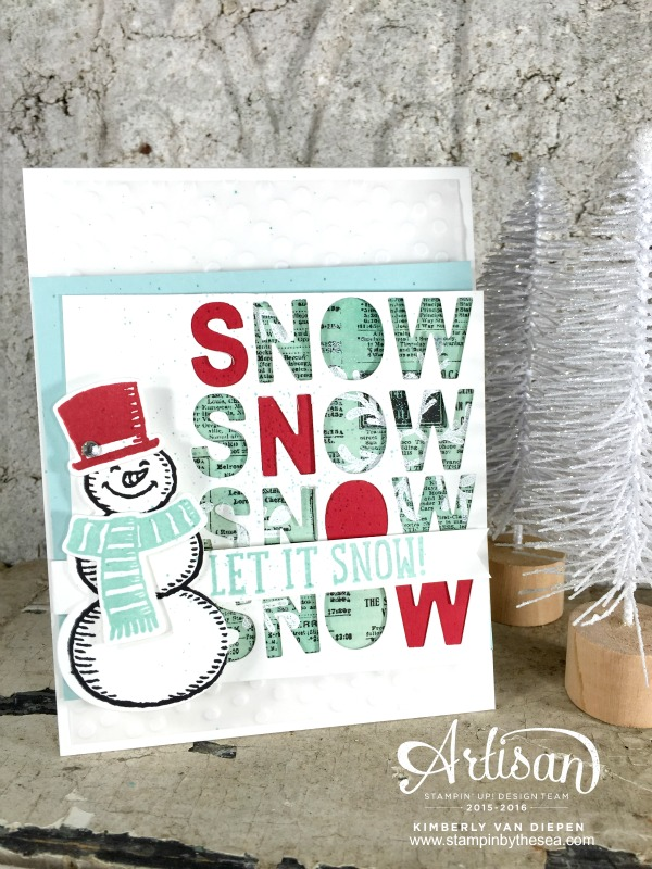 Color Challenge, TGIF, Snow Place Stamp set, Stampin' Up!