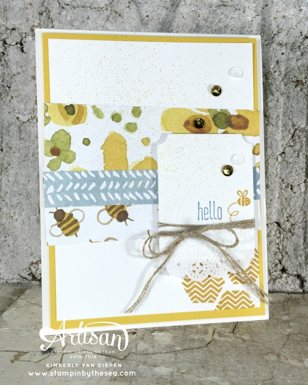 Honeycomb Hello, Stampin' Up!, Stampinbythesea