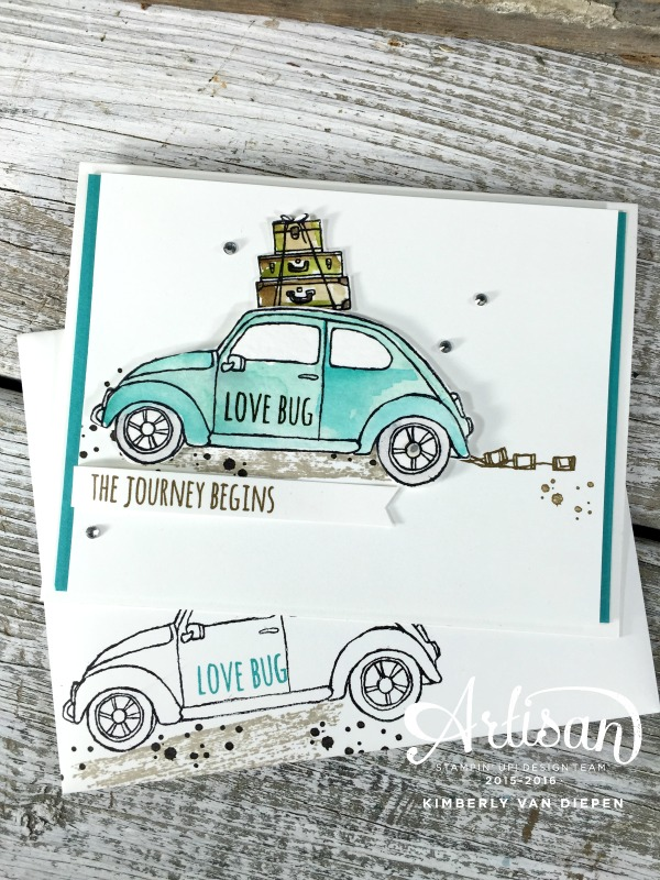 Love Bugs and Weddings, Beautiful Ride, Stampin' Up!