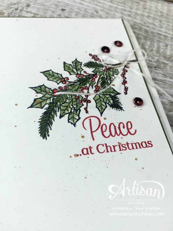 Peace at Christmas, Peaceful Wreath, Stampin' Up!
