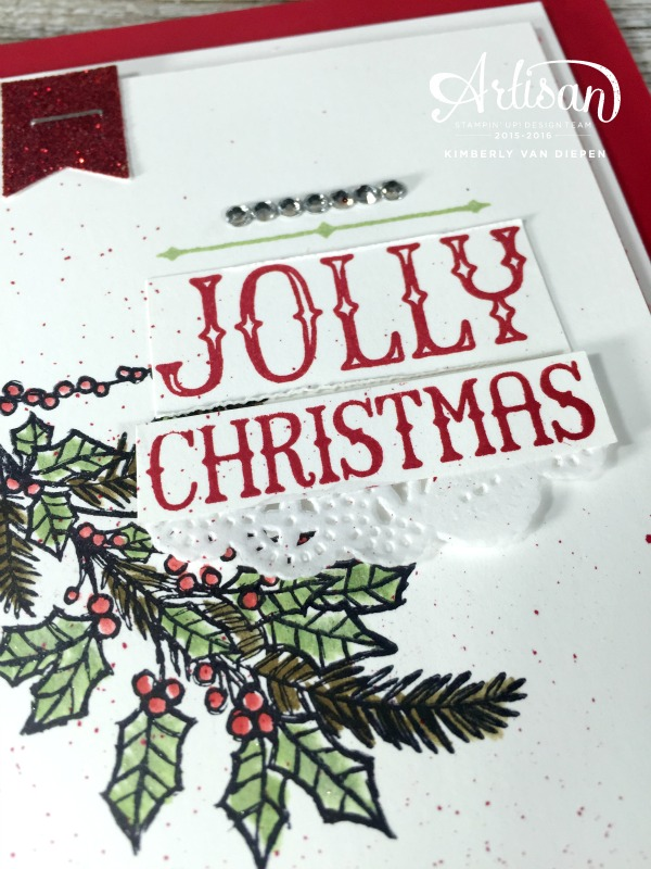 Holly Jolly Time Christmas, Peaceful Wreath, Stampin' Up!