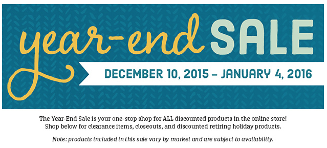 Year End Sale, Stampin' Up!
