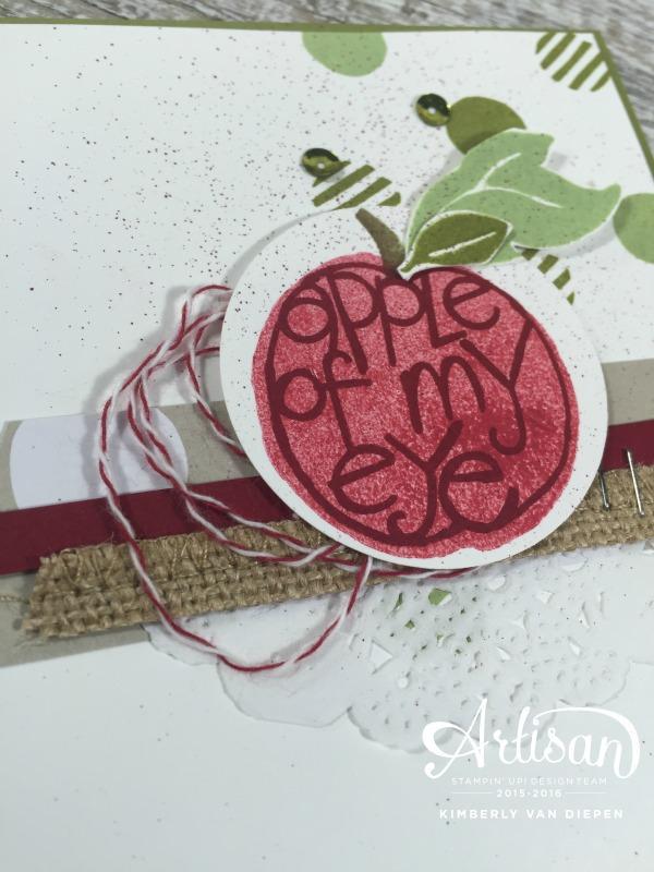 Apple of My Eye, Stampin' Up!, Kimberly Van Diepen