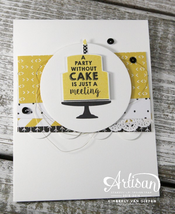 Monday Blues, Party Wishes, Stampin' Up!