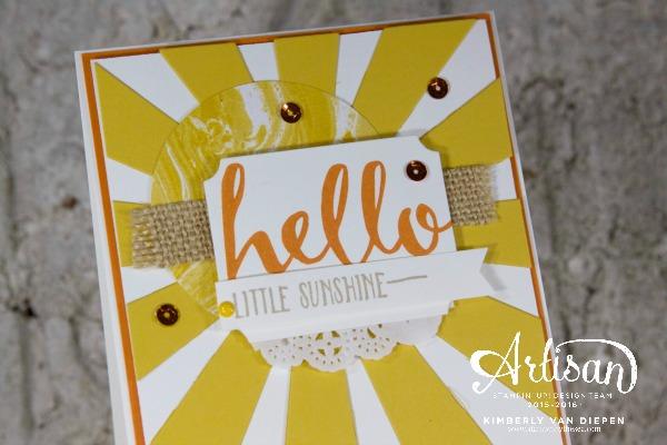 Sunshine, Sunburst Thinlits Die, Hello