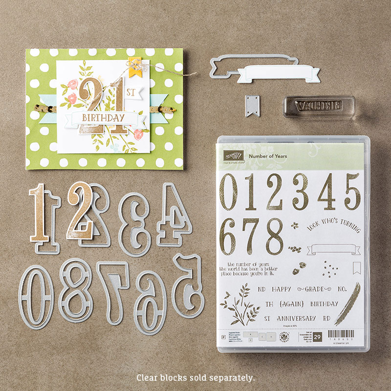 Number of Years Bundle, Stampin' Up!