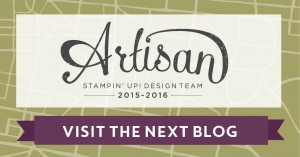 Artisan Blog Hop, Stampin' Up!