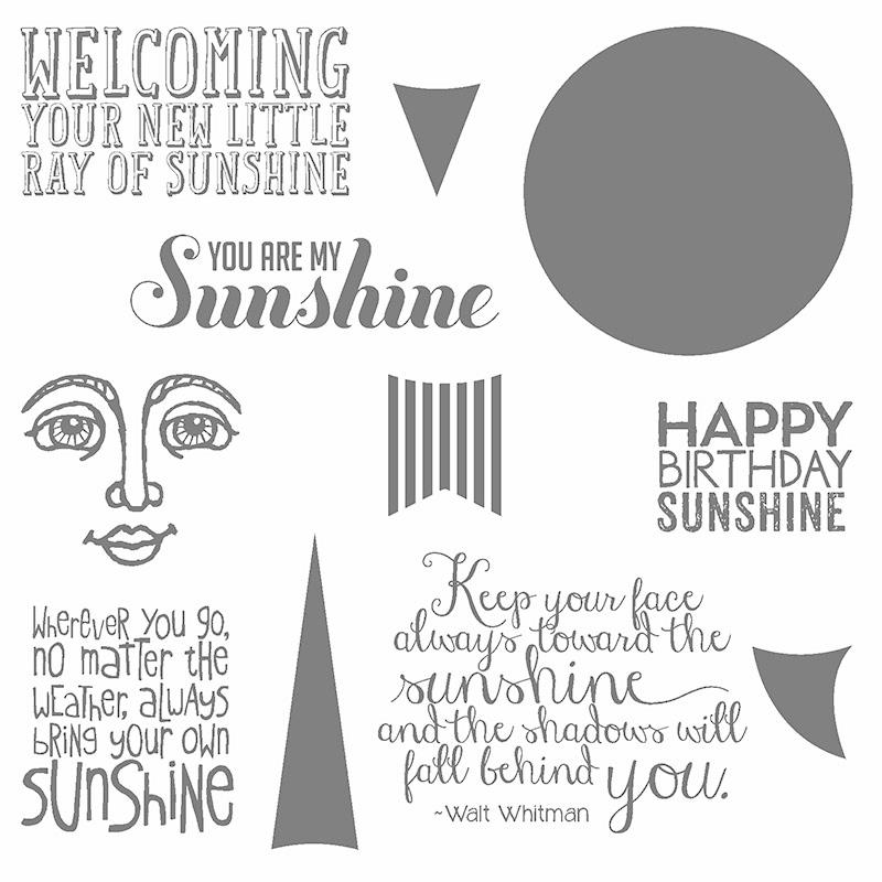 Sunshine, Ray of Sunshine, Stampin' Up!