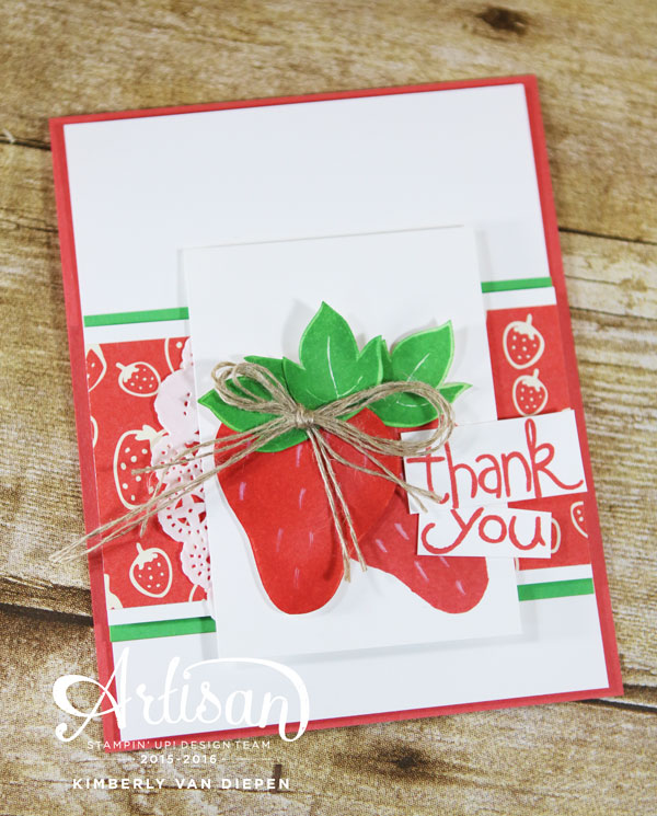 Strawberries, Apple of My Eye, Stampin' Up!