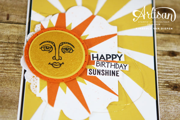 Sunshine, Ray of Sunshine, Stampin' Up!