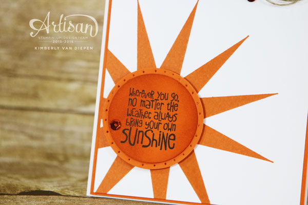 Ray of Sunshine, Stampin' Up!
