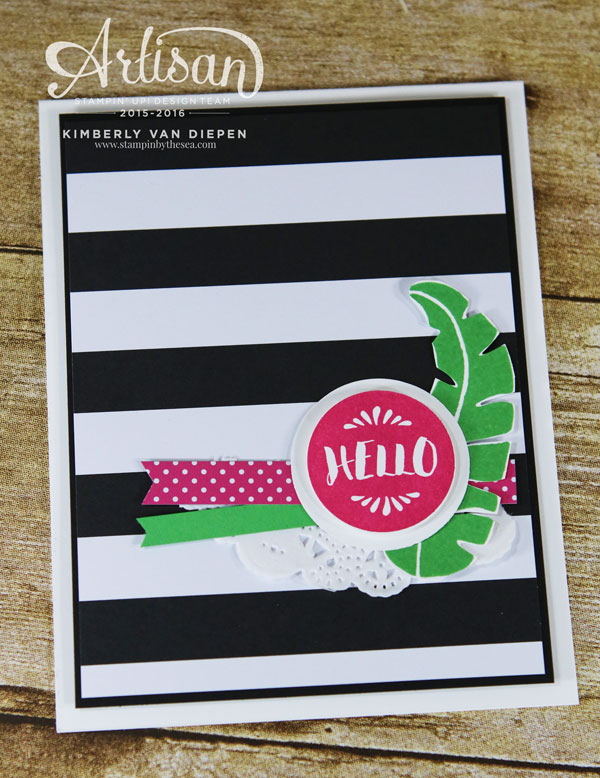 Hello, Pop of Paradise, Stampin' Up!
