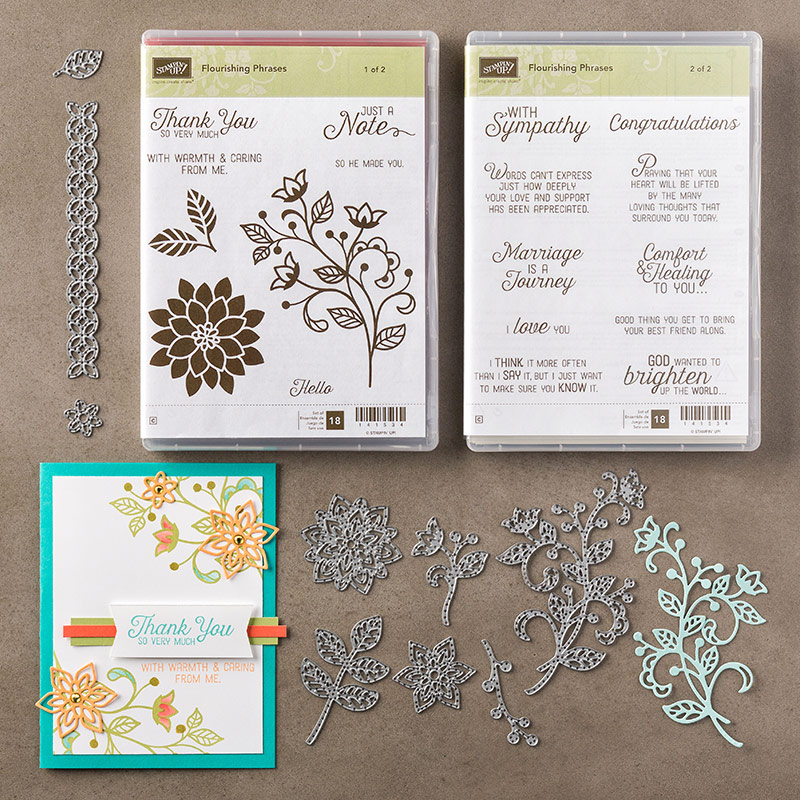 Flourishing Phrases, Stampin' Up!, Stampin' Up! Demo