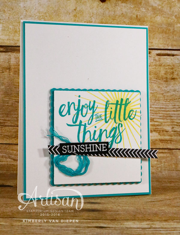 Sunshine, Layering Love, Stampin' Up!