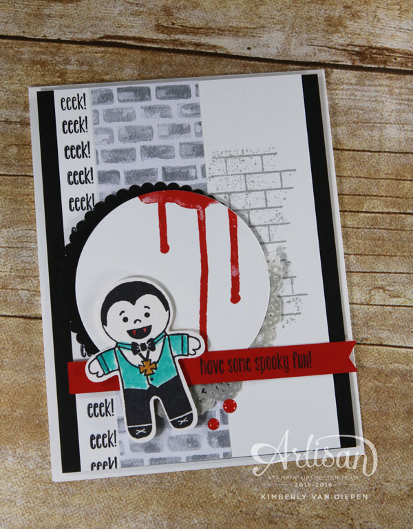 Dracula, Cookie Cutter Halloween, Stampin' Up!