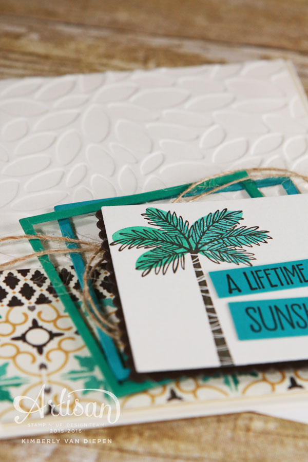 Tropical Paradise, Stampin' Up!, Totally Trees