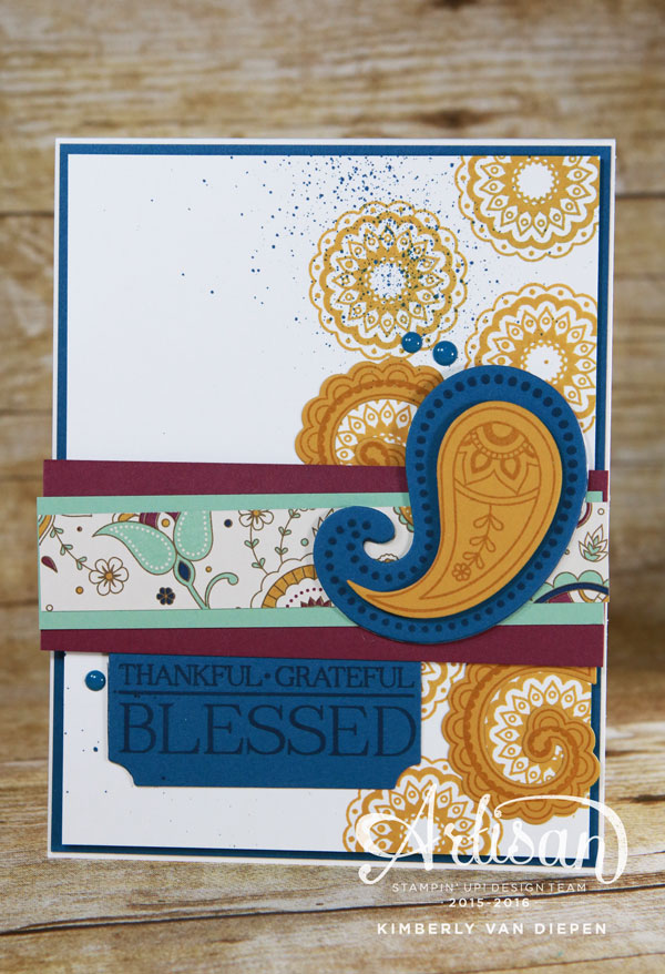 Grateful, Stampin' Up!, Paisleys & Posies