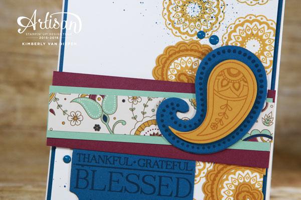 Grateful, Stampin' Up!, Paisleys & Posies