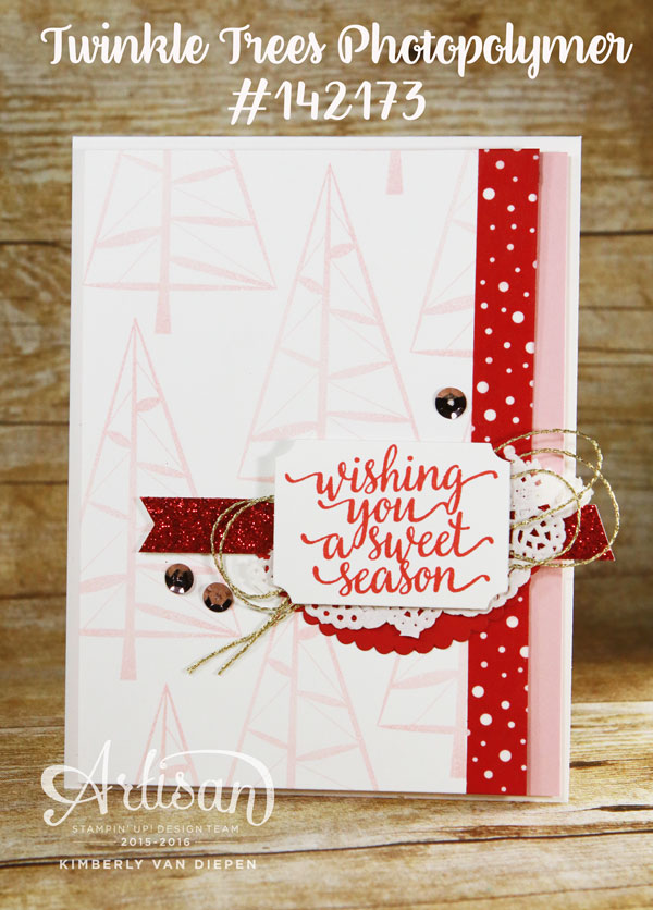 Christmas Countdown, Stampin' Up!, Twinkle Trees
