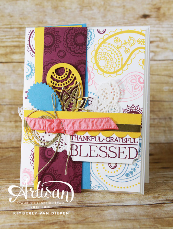 Color Inspiration, Stampin' Up!, Paisleys & Posies