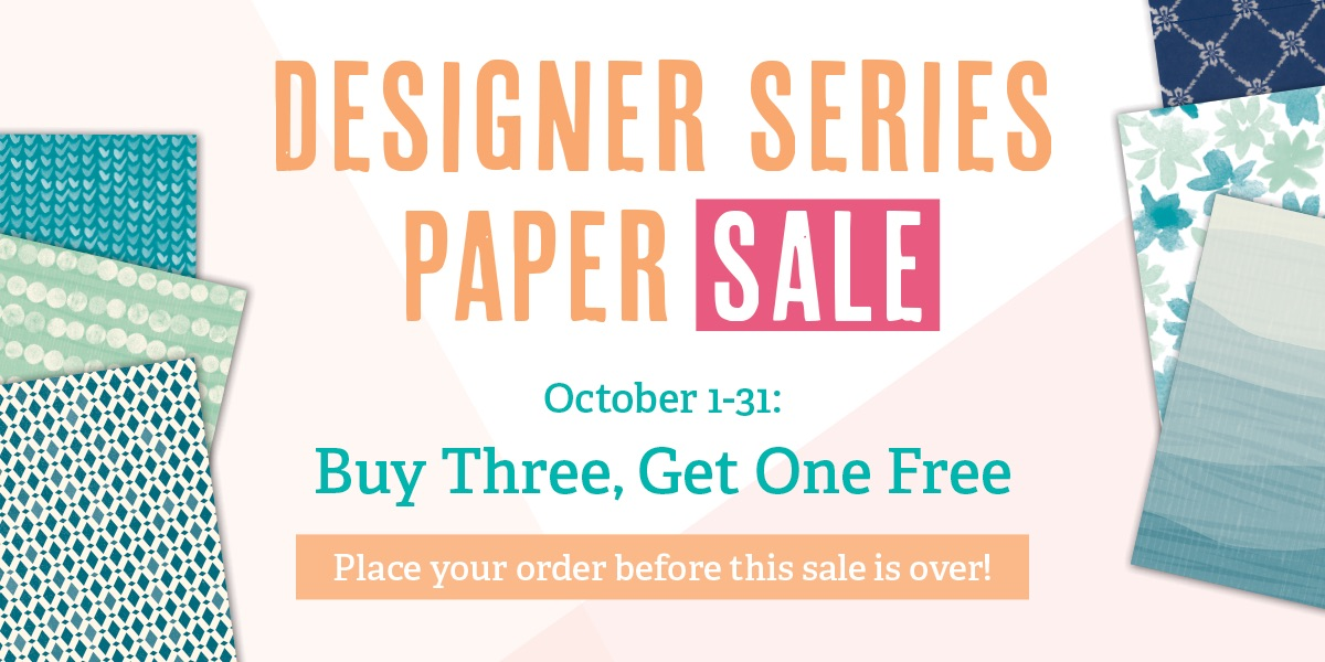 Designer Series Paper promotion, Stampin' Up!
