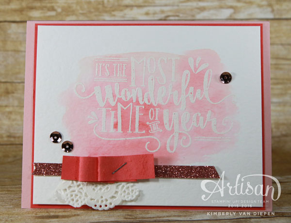 Most Wonderful Time of Year, Stampin' Up!, Christmas
