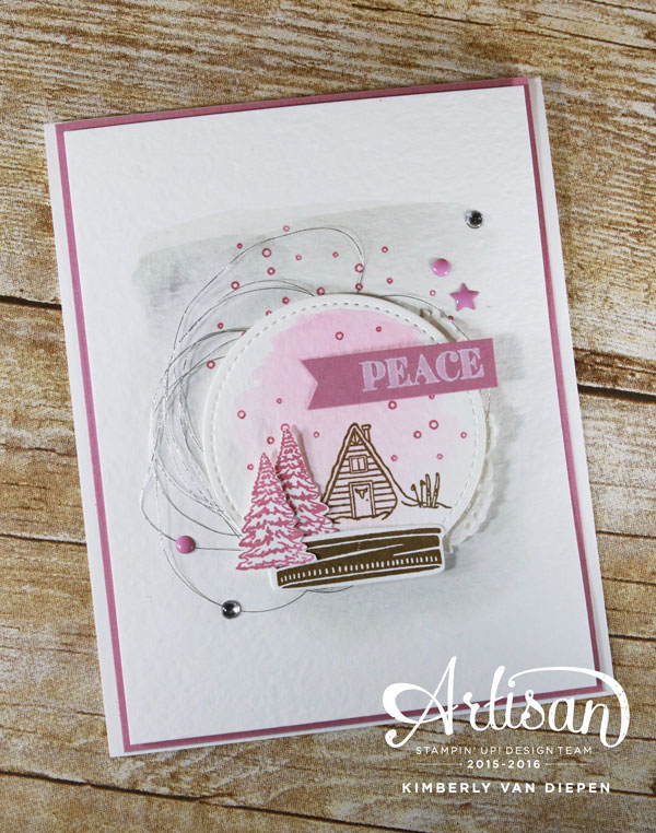 Snow Globe, Mountain Adventure, Stampin' Up!