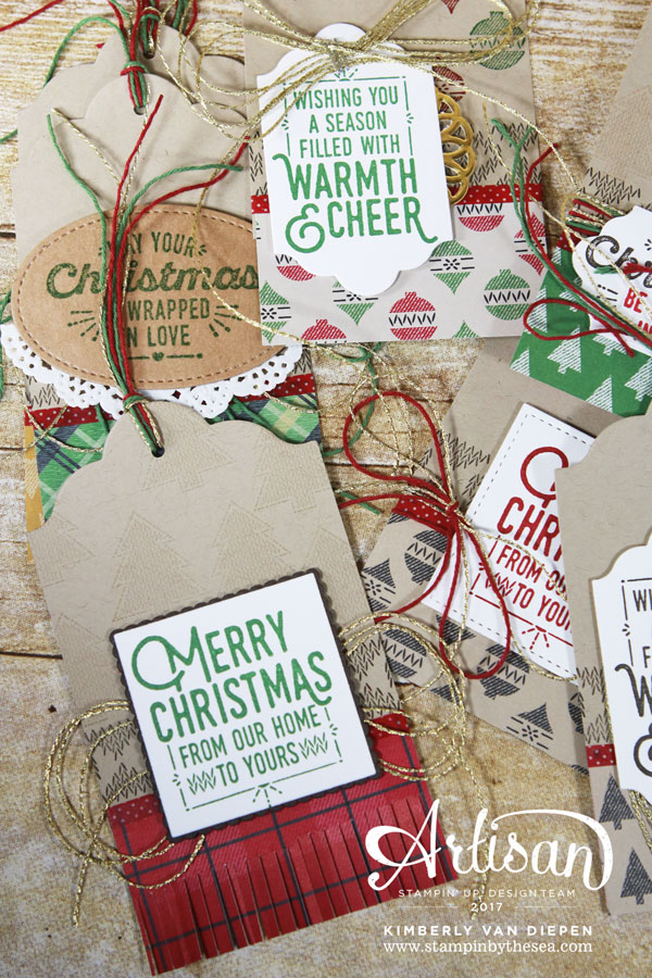 Christmas Tags, Stampin' Up!, Wrapped in Warmth