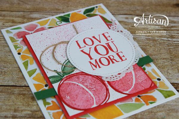 Valentines, Stampin' Up!, Fresh Fruit
